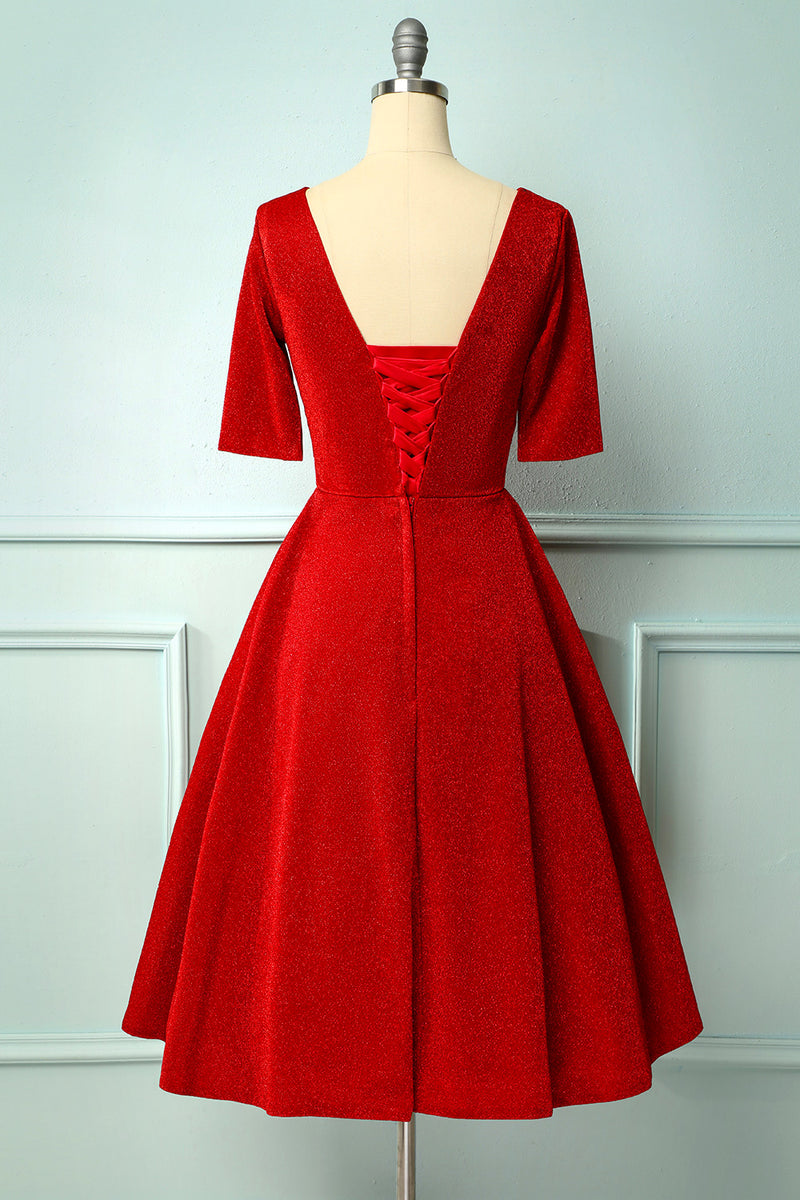 Load image into Gallery viewer, Burgundy Velvet Dress