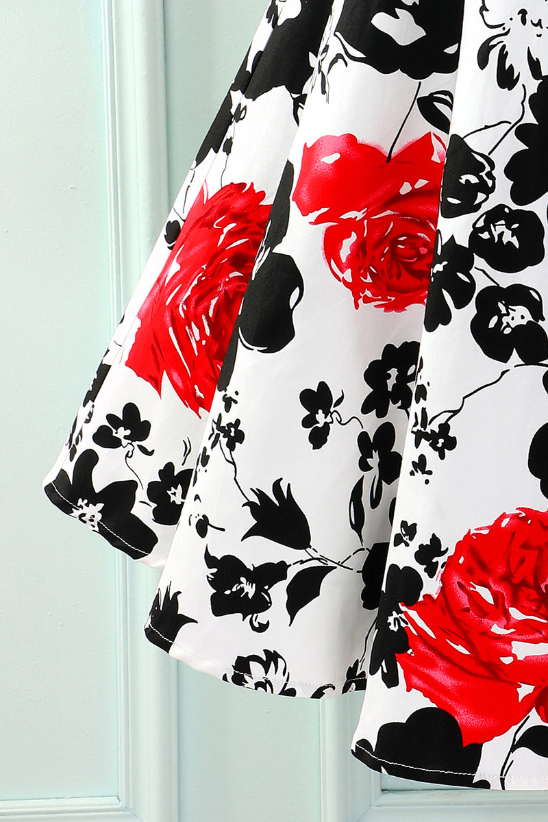 Load image into Gallery viewer, Patchwork Black & Printed Dress