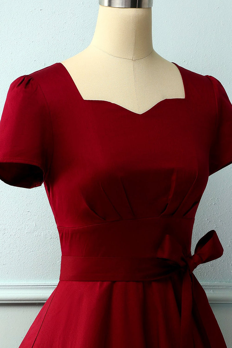 Load image into Gallery viewer, Swing 50s Dress with Short Sleeves