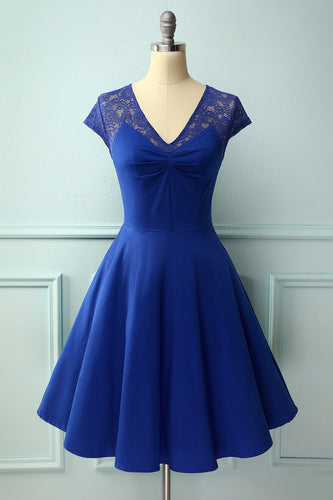 Royal Blue Lace Dress