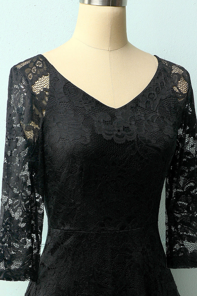 Load image into Gallery viewer, Black Lace Midi