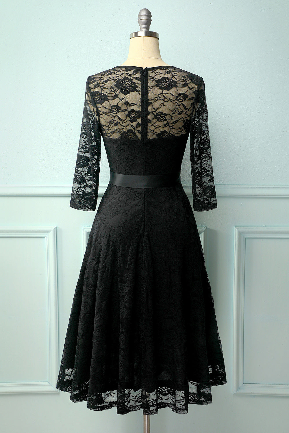 Black Rose Lace Dress