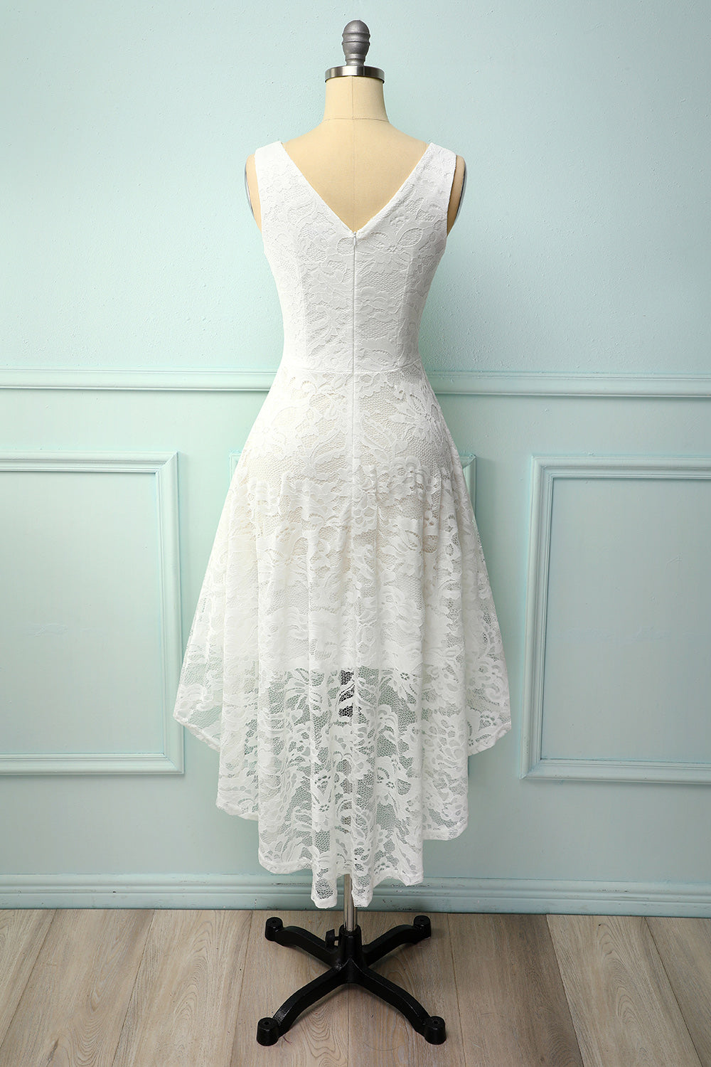Lace Asymmetrical Dress
