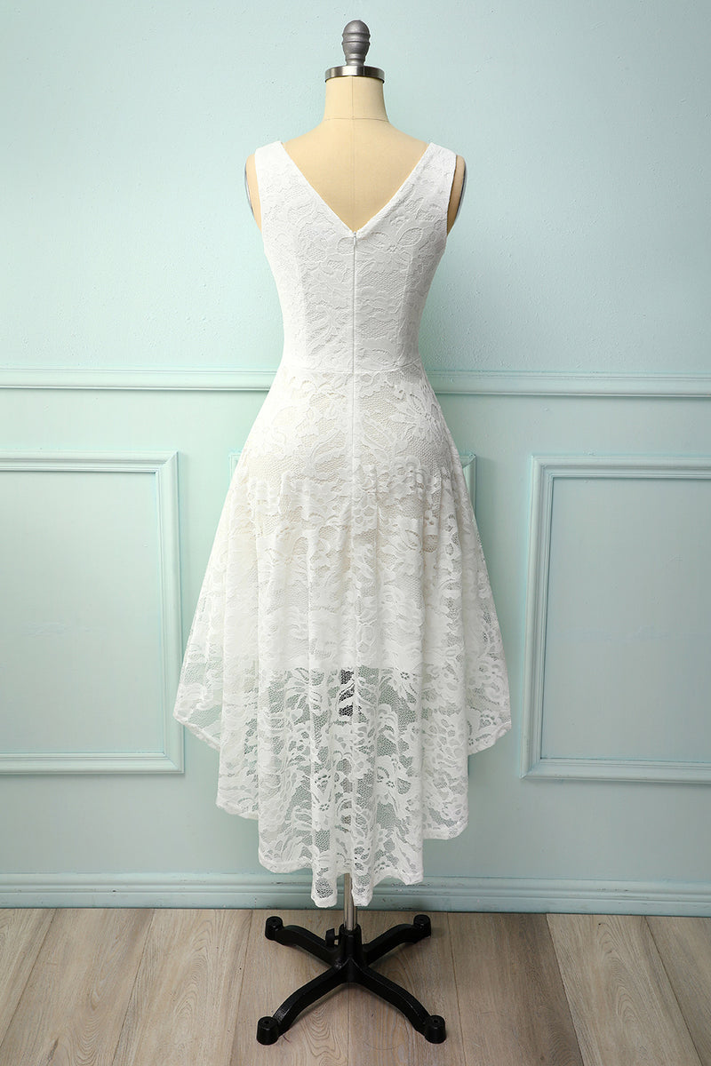 Load image into Gallery viewer, Lace Asymmetrical Dress