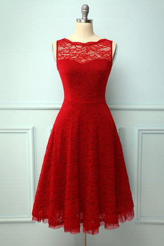 Lace Red Formal Dress