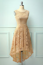 Load image into Gallery viewer, Asymmetrical Champagne Lace Dress