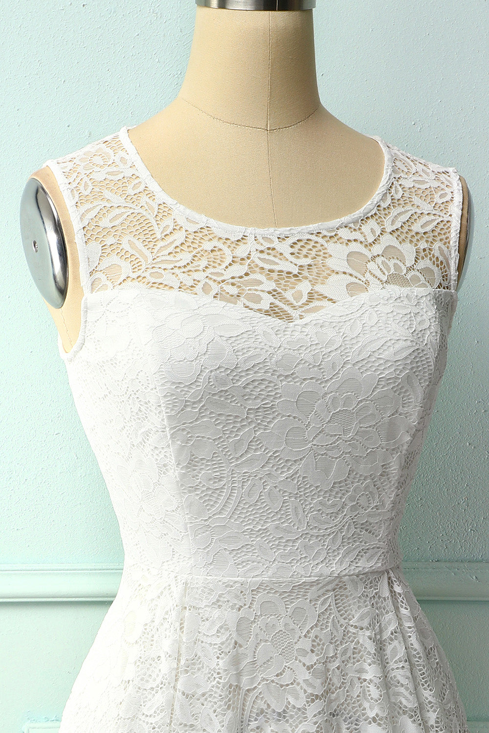 White Midi Lace Dress