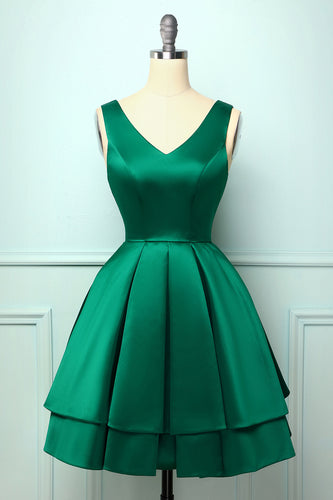Satin Green Ball Dress