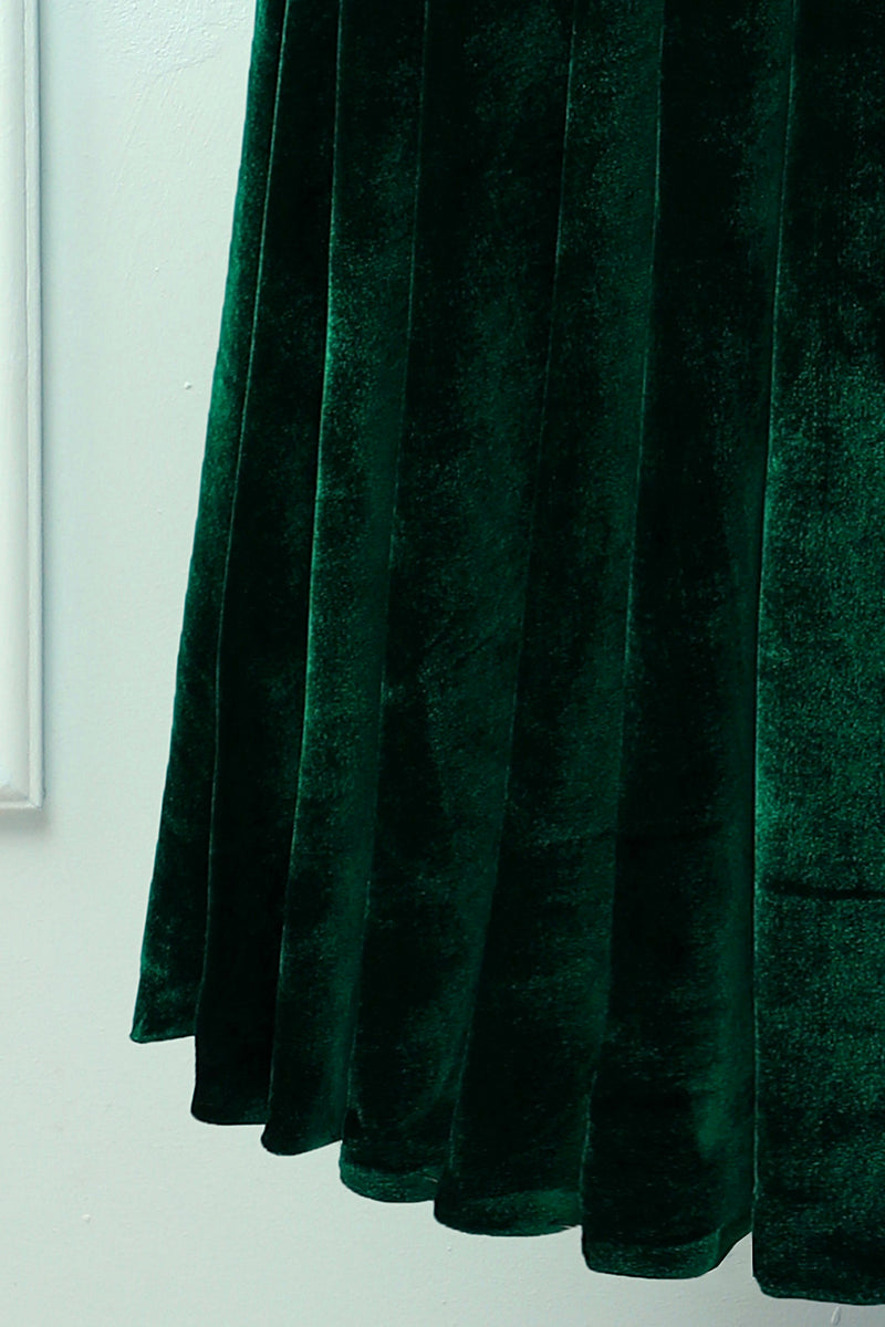 Load image into Gallery viewer, Dark Green Velvet Dress