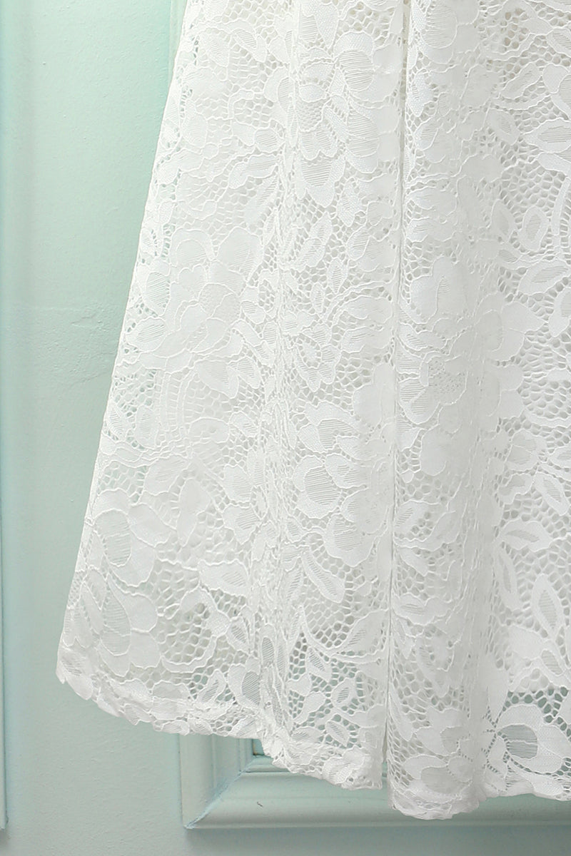 Load image into Gallery viewer, White Halter Lace Midi