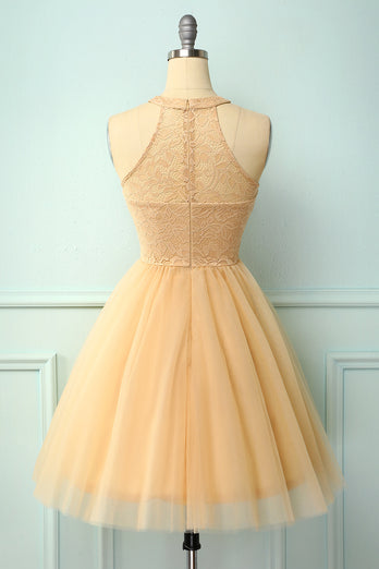 Champagne Short Party Dress