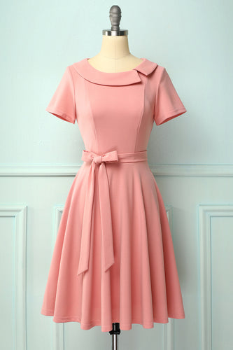 Peter Pans Collar Dress with Pockets