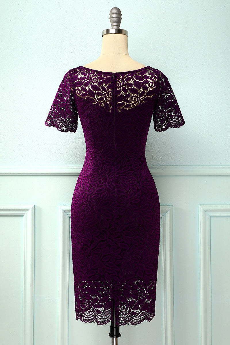 Load image into Gallery viewer, Midi Bodycon Lace Dress