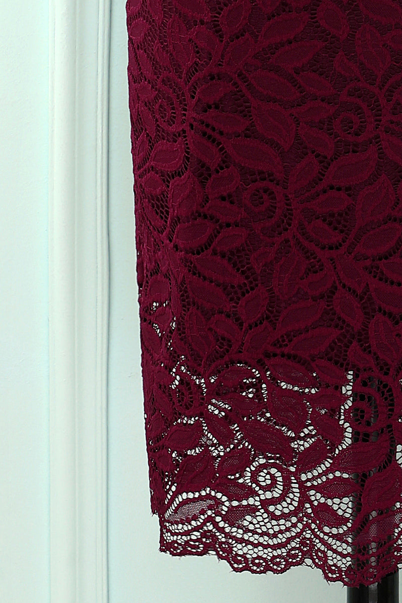 Load image into Gallery viewer, Burgundy Bodycon Formal Dress