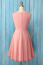 Load image into Gallery viewer, Blush Asymmetrical Neck Crepe Dress
