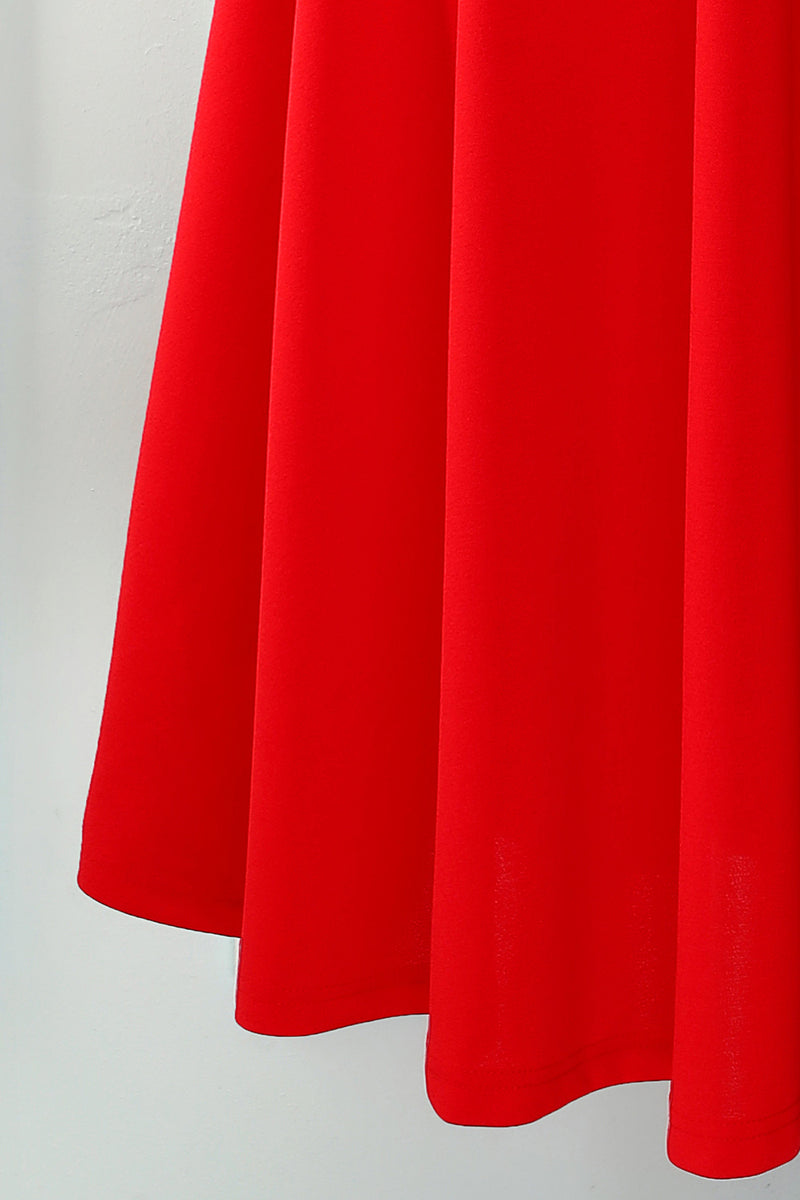 Load image into Gallery viewer, Red Square Neck Dress