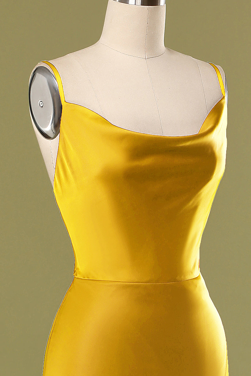 Load image into Gallery viewer, Stylish Yellow Prom Party Dress