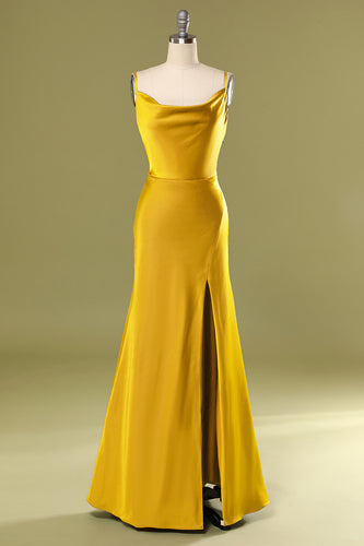Stylish Yellow Prom Party Dress