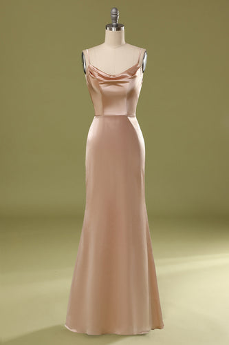 Dusty Pink Satin Dress