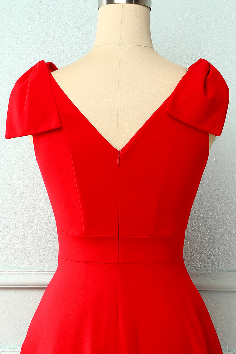 Load image into Gallery viewer, Vintage Red Dress With Pockets