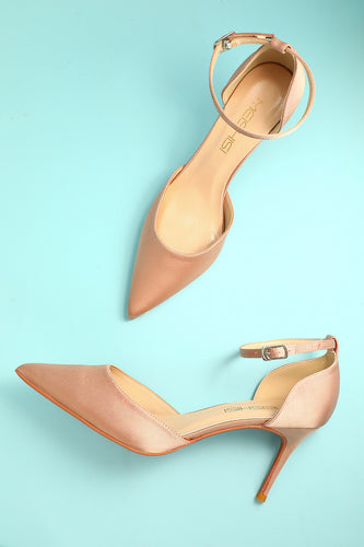 Champagne Pointy Heels