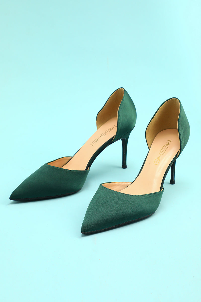 Load image into Gallery viewer, Dark Green Stiletto Heels