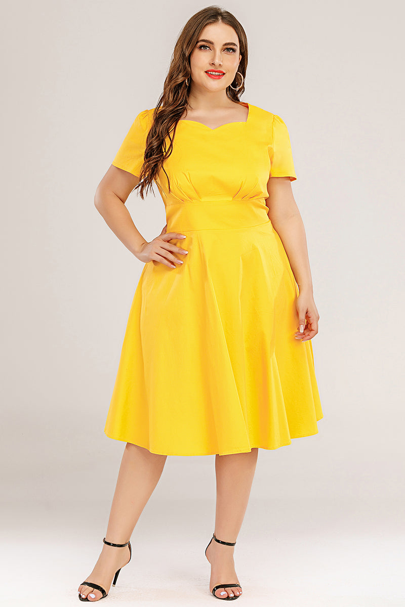 Load image into Gallery viewer, Plus Size 50s Swing Dress