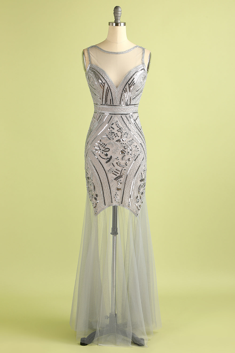 1920s long gown in Sequin Tulle