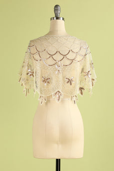 1920s Sequin Women Cape