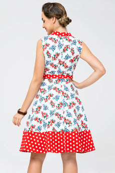 Printed Polka Dot Vintage Dress