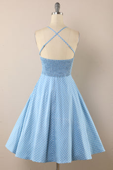 Polka Dots Vintage 1950s Dress