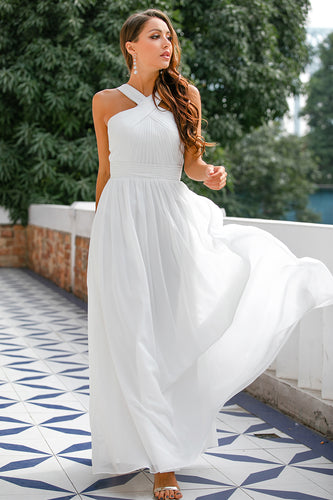 Ruffle Cross V-neck Dress
