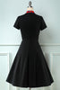 Load image into Gallery viewer, Black Plaid Swing 1950s Dress