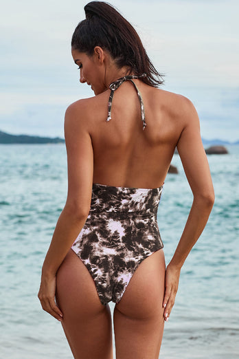 Camouflage Apricot One Piece Swimsuit