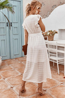 White Maxi Boho Summer Dress