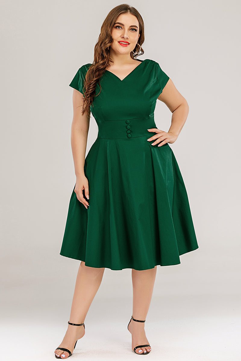 Load image into Gallery viewer, Plus Size Solid Dress