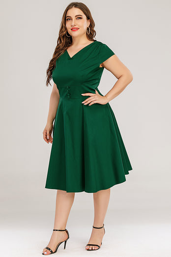 Plus Size Solid Dress