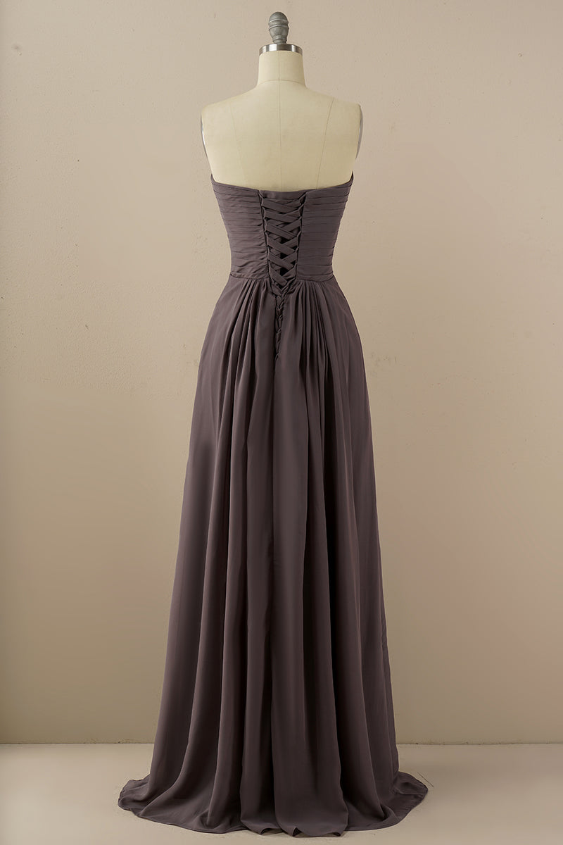 Load image into Gallery viewer, Chiffon Long Bridesmaid Dress