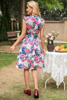 Floral Printed Summer Vintage Dress