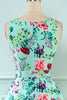 Load image into Gallery viewer, Green Flower Print 1950s Dress