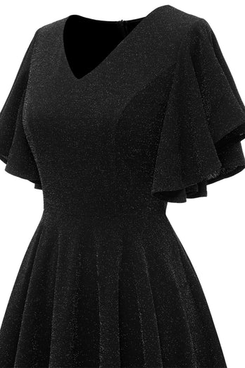 Glitter Black Casual Party Dress