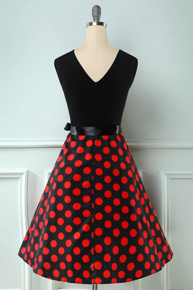 Load image into Gallery viewer, Red Dots Vintage 1950s Dress