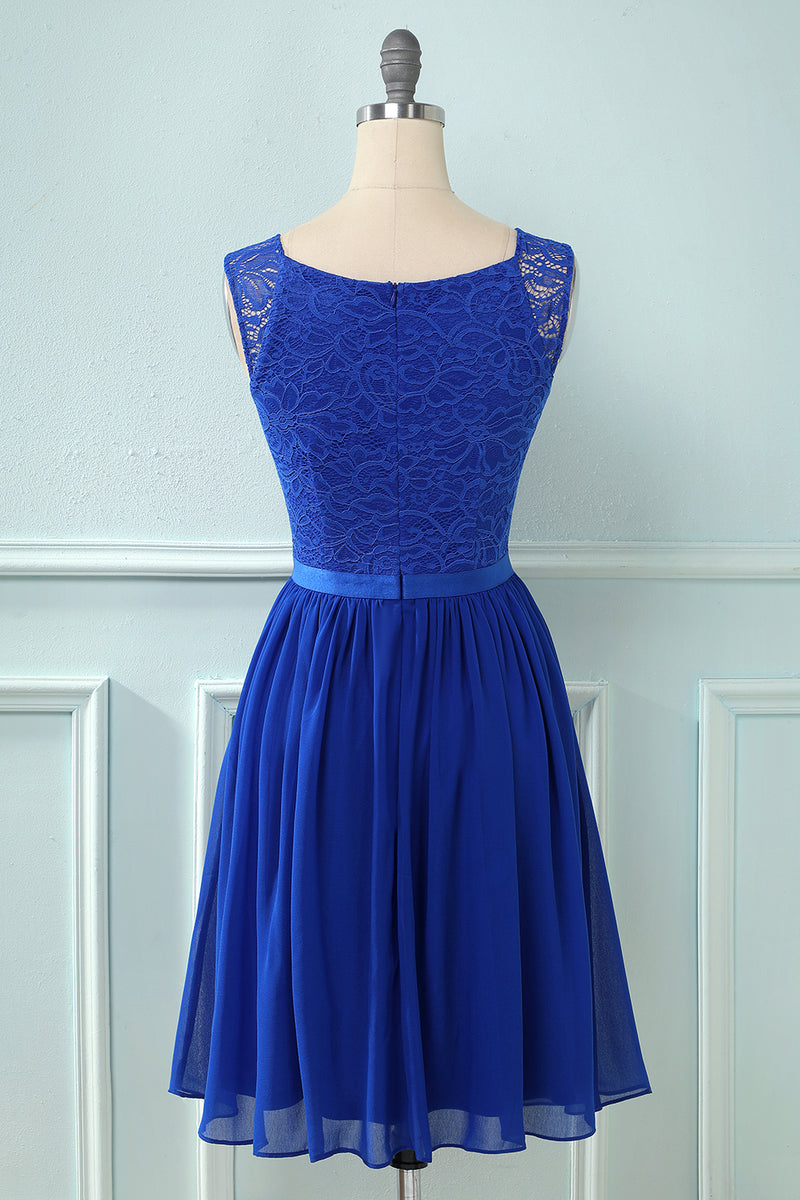 Load image into Gallery viewer, Lace Chiffon Bridesmaid Dress