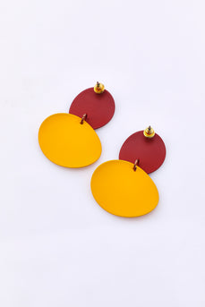 Retro Stitching Contrast Earrings