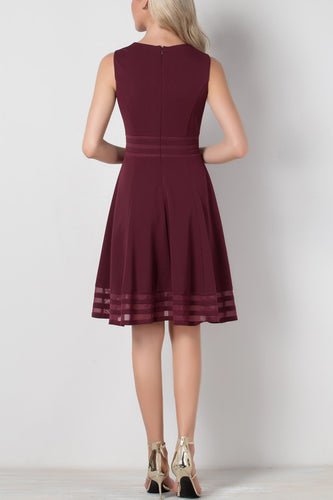 Solid Midi Crepe Dress