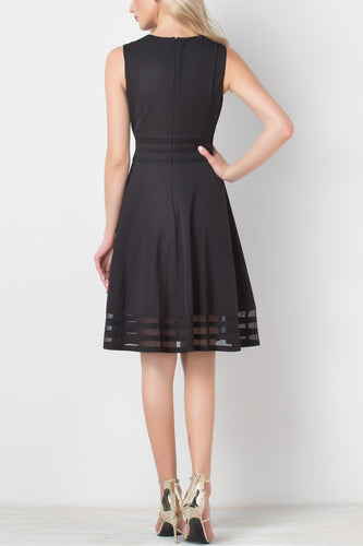 Solid Black Midi Dress