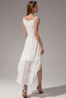 White Lace High-low Dress