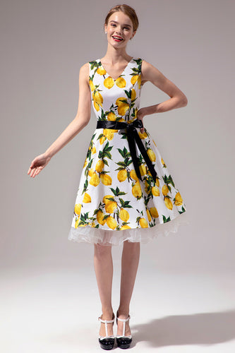 V-neck Lemon Dress