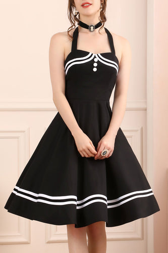 Black 50s Rockabilly Pin Up Dress