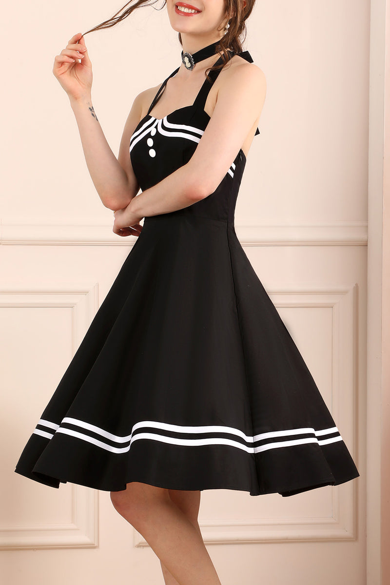 Load image into Gallery viewer, Halter Black Dress